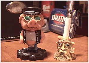 Smokeless Cigarette Snuffers - Butt Headz Pig Biker, Butt Headz Old Man Tree